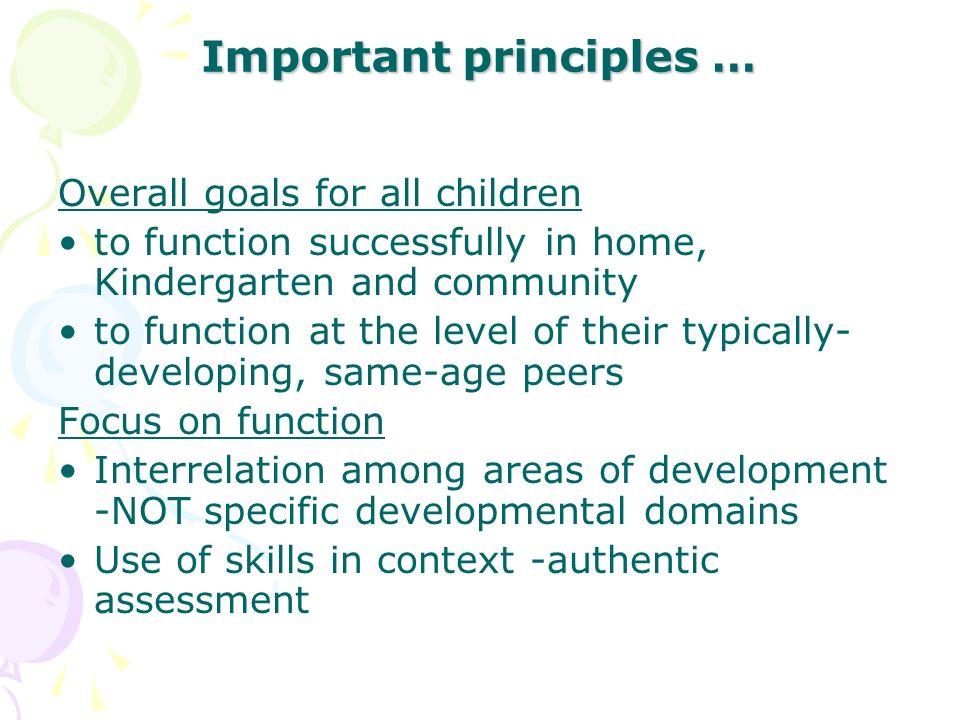 Important principles …