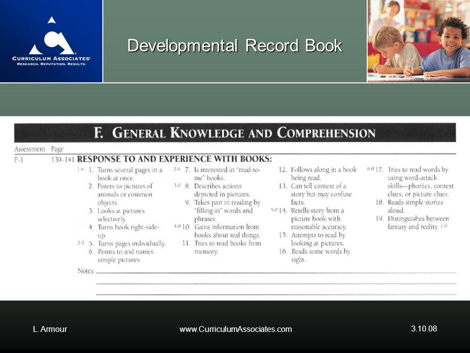 Developmental Record Book