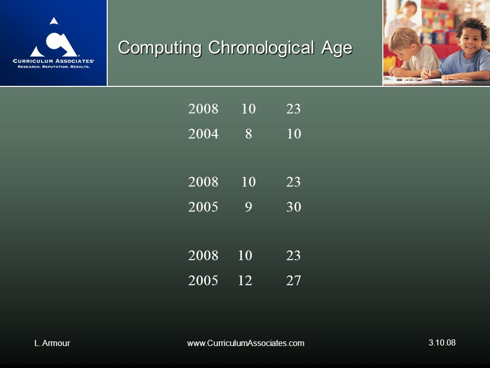 Computing Chronological Age