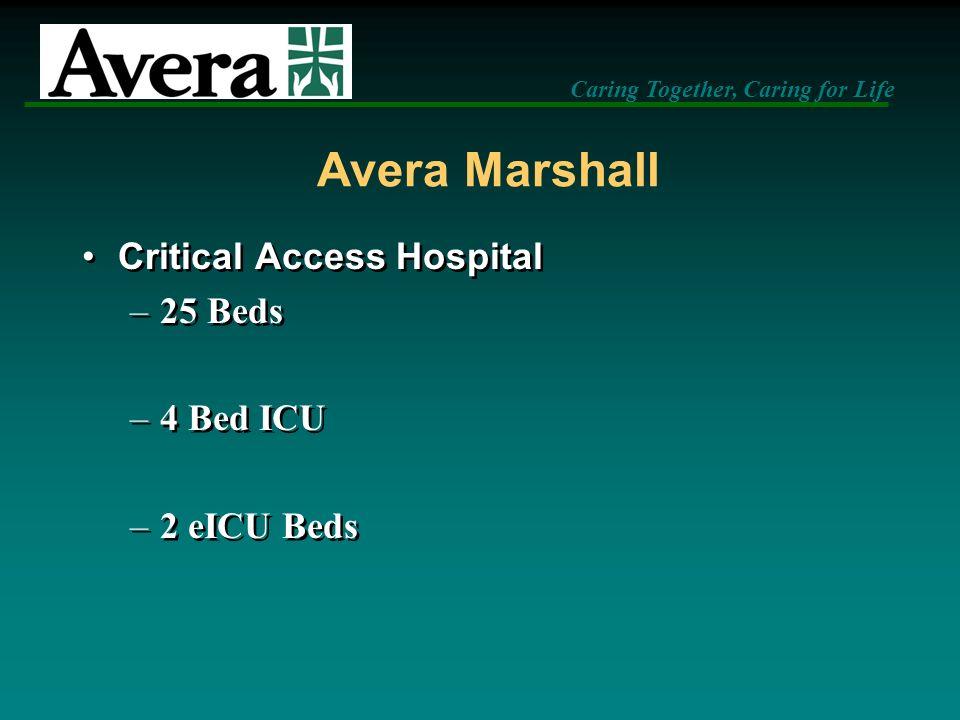 Avera Marshall Critical Access Hospital 25 Beds 4 Bed ICU 2 eICU Beds