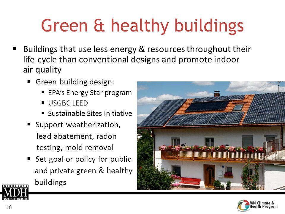 Green & healthy buildings