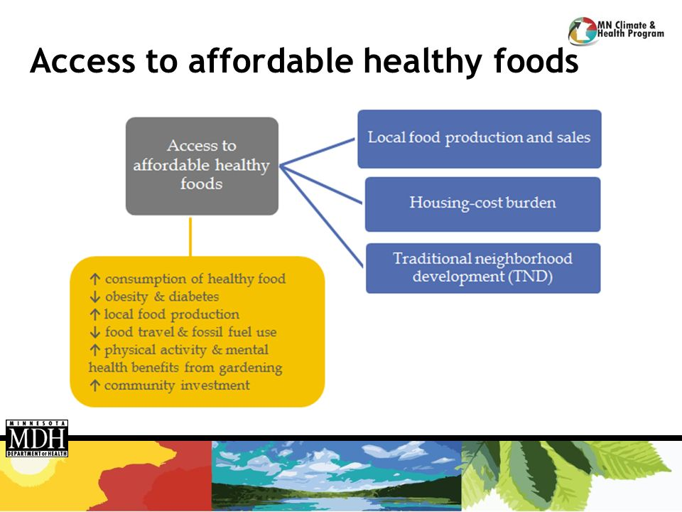 Access to affordable healthy foods