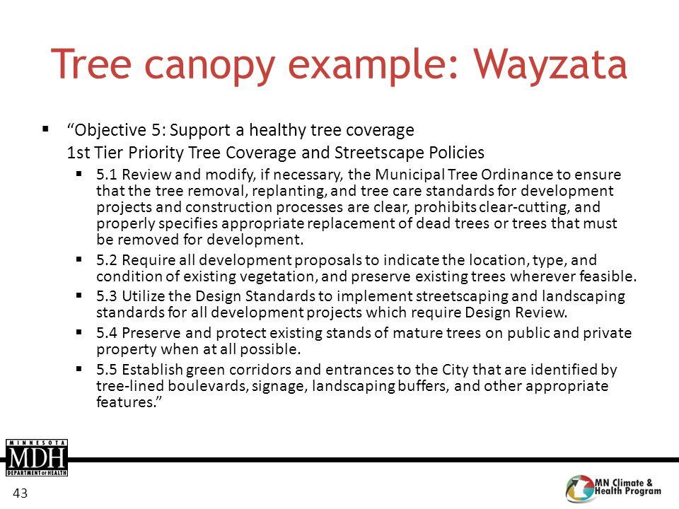 Tree canopy example: Wayzata