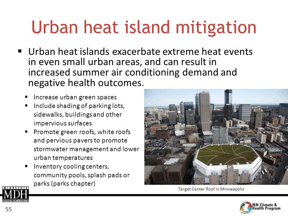 Urban heat island mitigation