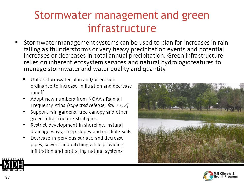 Stormwater management and green infrastructure
