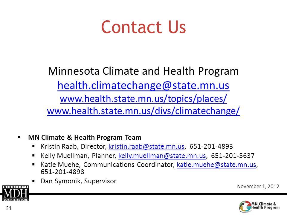 Minnesota Climate and Health Program