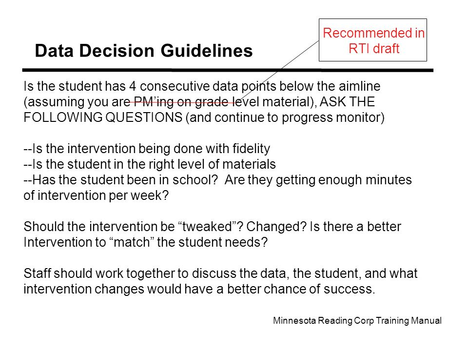 Data Decision Guidelines