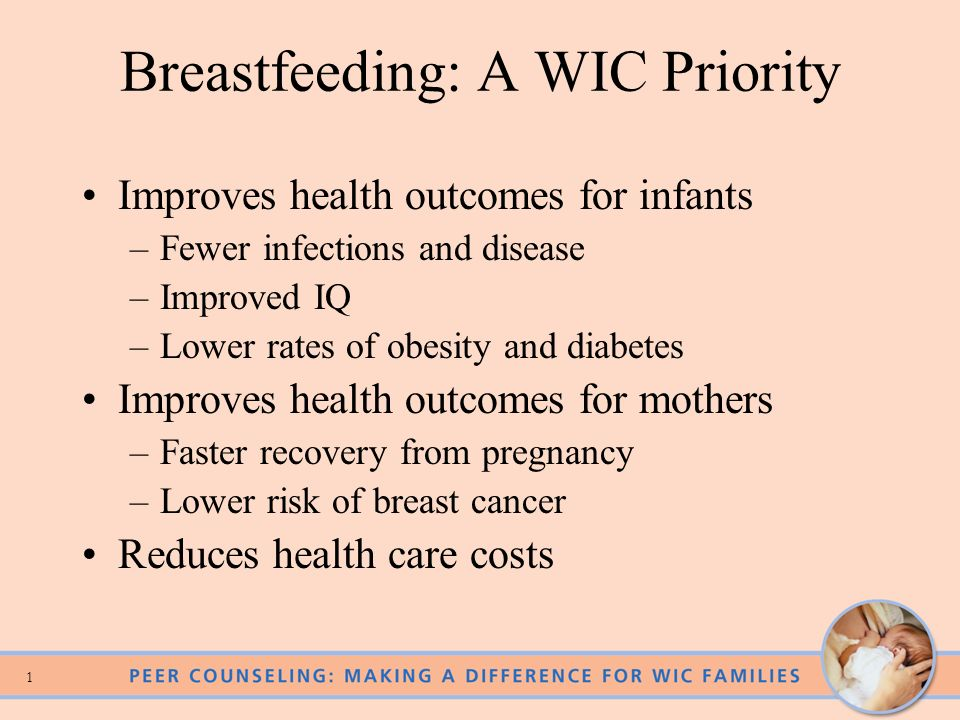 Breastfeeding: A WIC Priority
