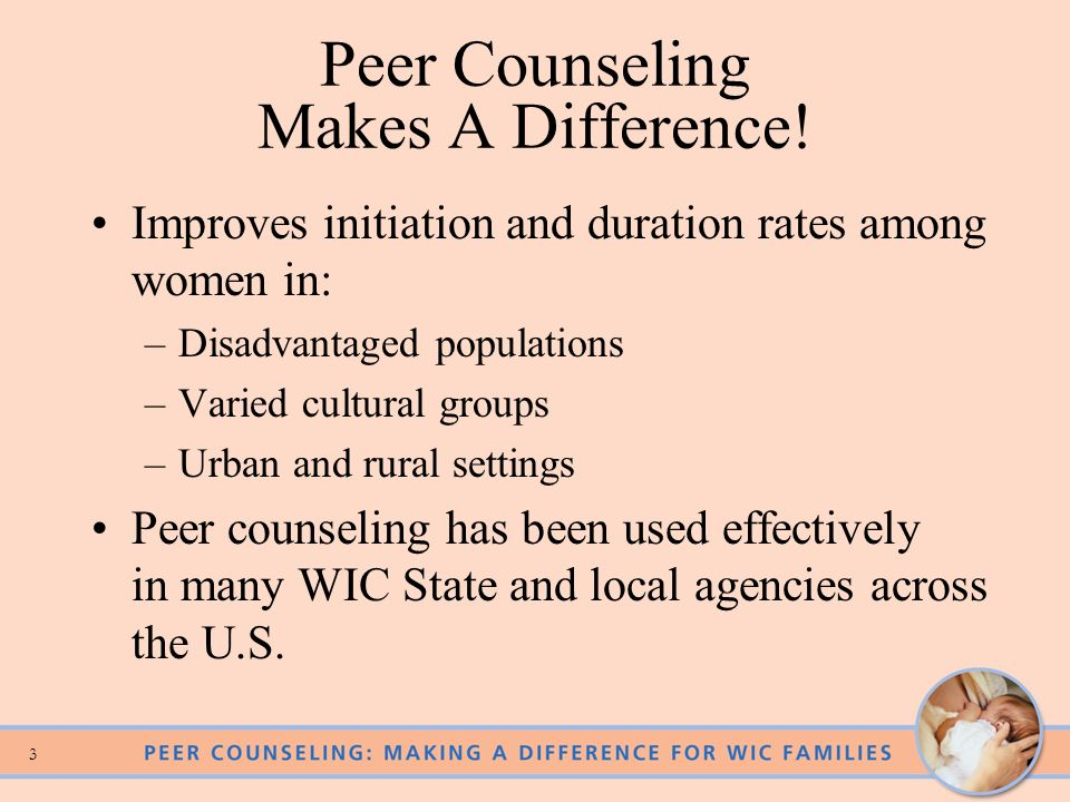 Peer Counseling Makes A Difference!