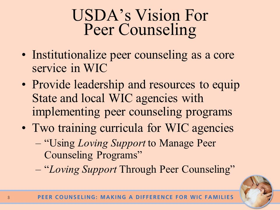 USDA's Vision For Peer Counseling
