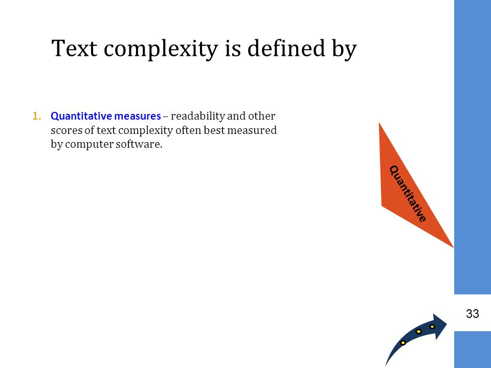 Text complexity is defined by