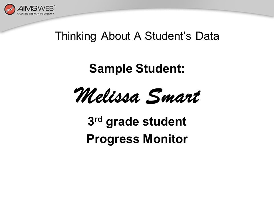 Thinking About A Student's Data