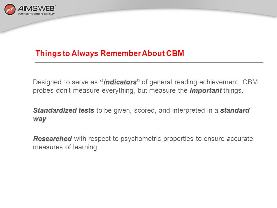 Things to Always Remember About CBM
