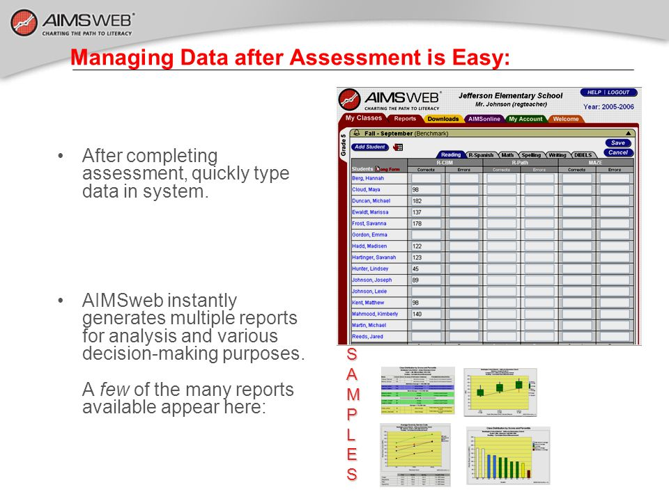 Managing Data after Assessment is Easy: