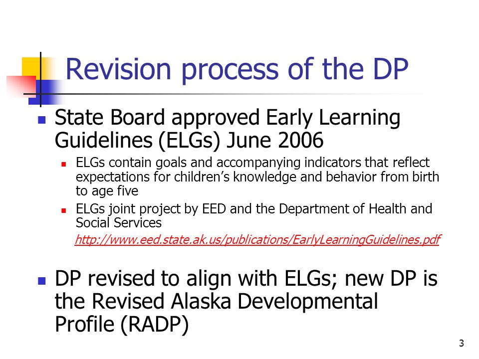 Revision process of the DP