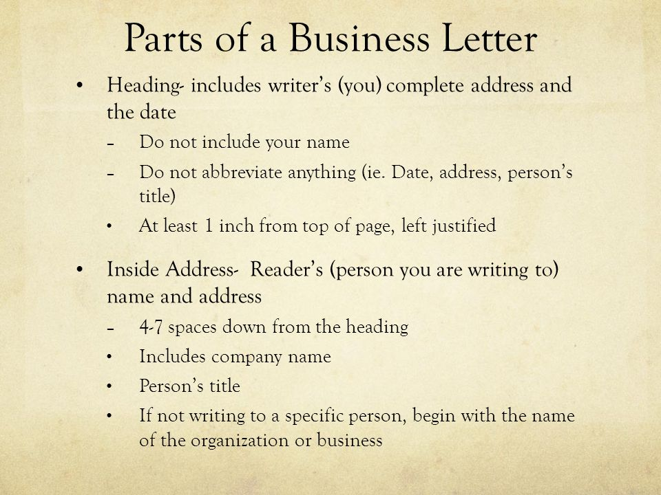 how to begin a business letter