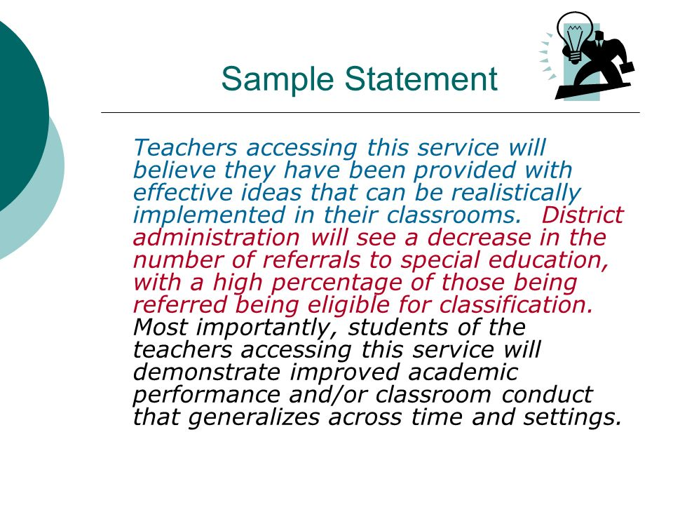 Sample Statement