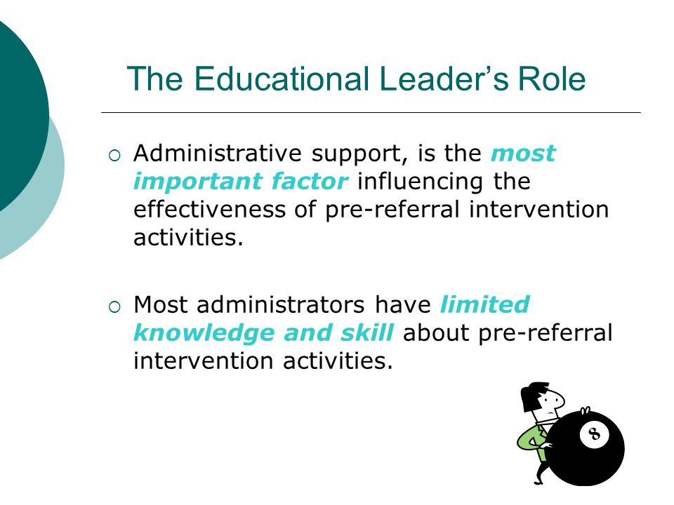 The Educational Leader's Role