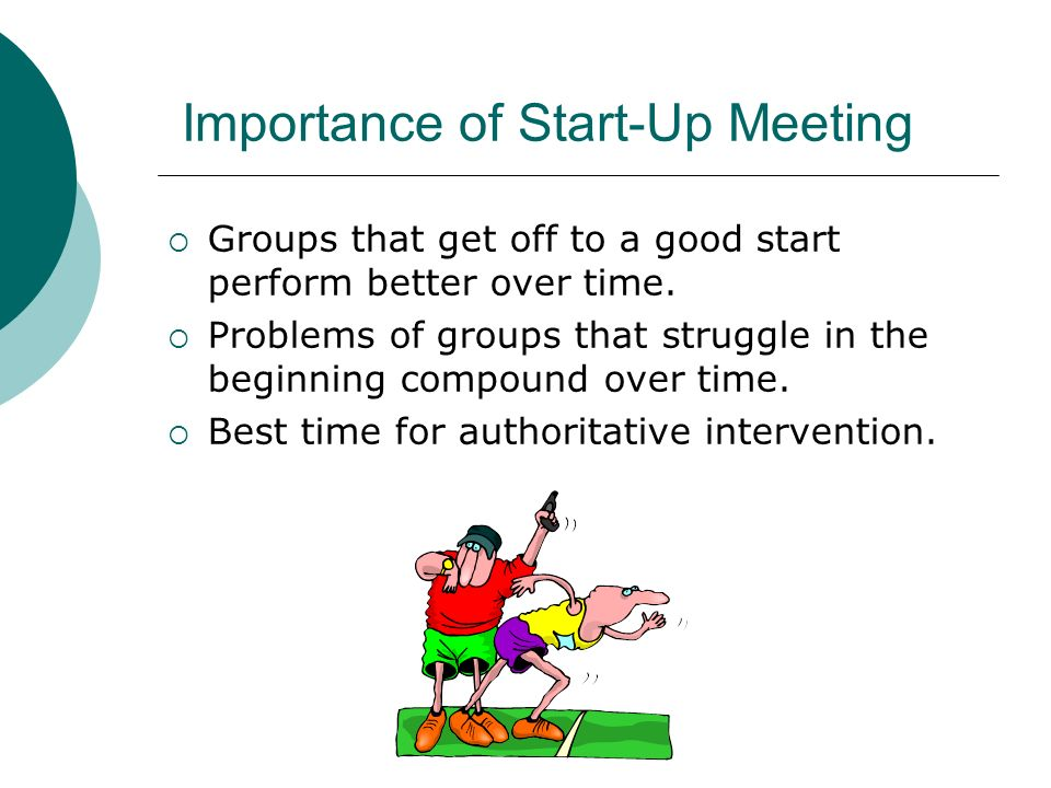 Importance of Start-Up Meeting