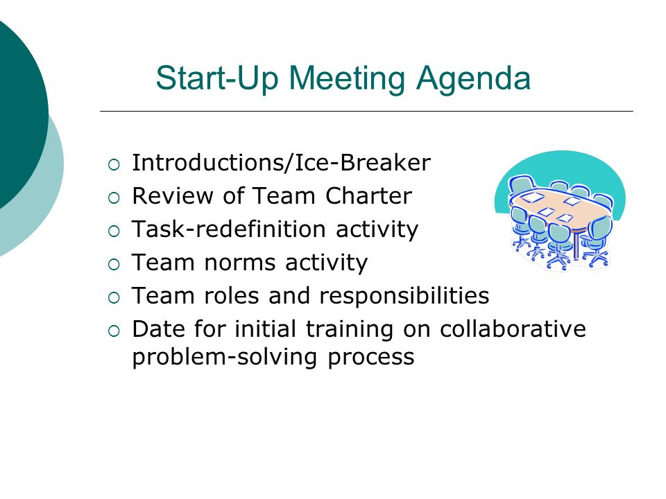 Start-Up Meeting Agenda