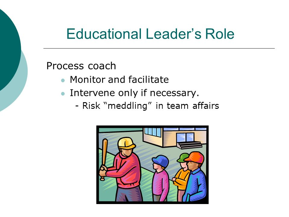Educational Leader's Role