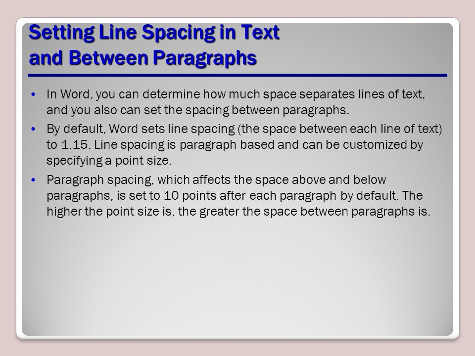 Space in between paragraphs essay