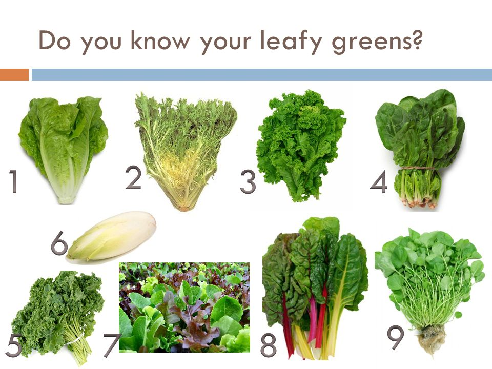 Do you know your leafy greens
