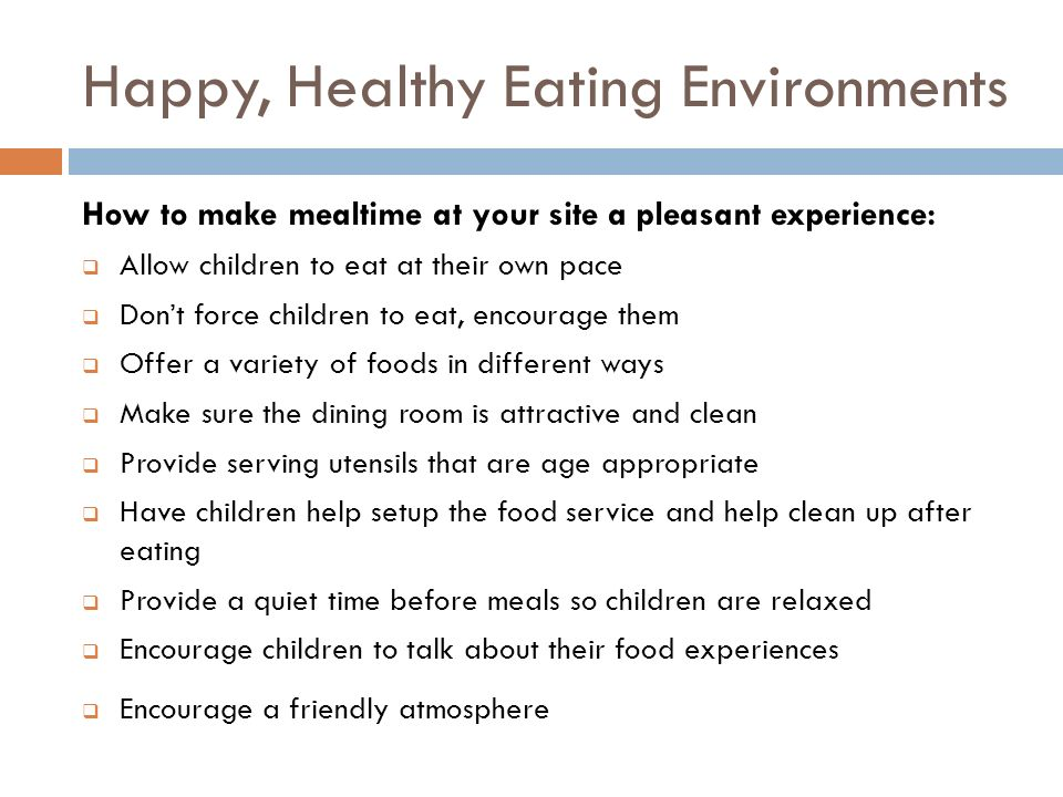 Happy, Healthy Eating Environments