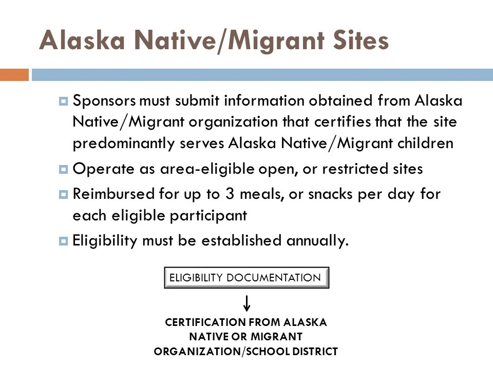 Alaska Native/Migrant Sites