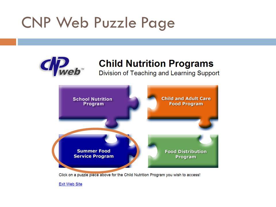 CNP Web Puzzle Page