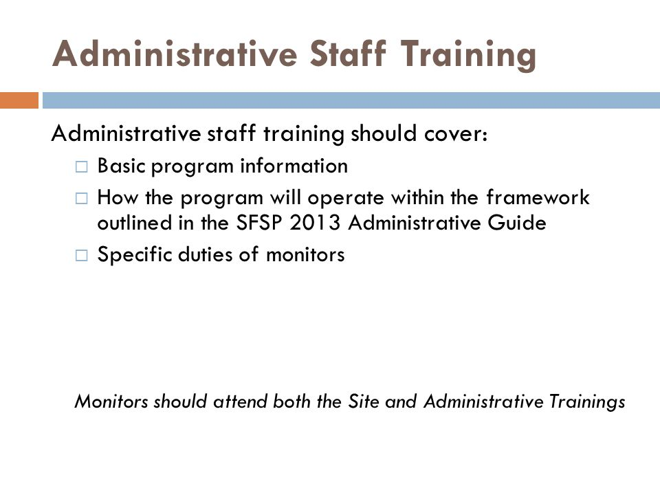 Administrative Staff Training