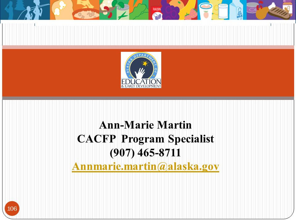 CACFP Program Specialist