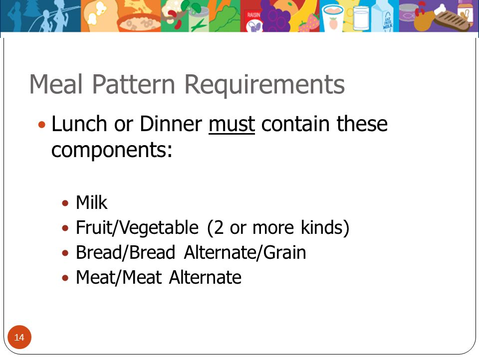 Meal Pattern Requirements
