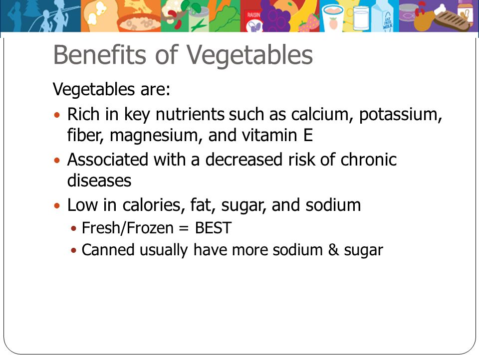 Benefits of Vegetables