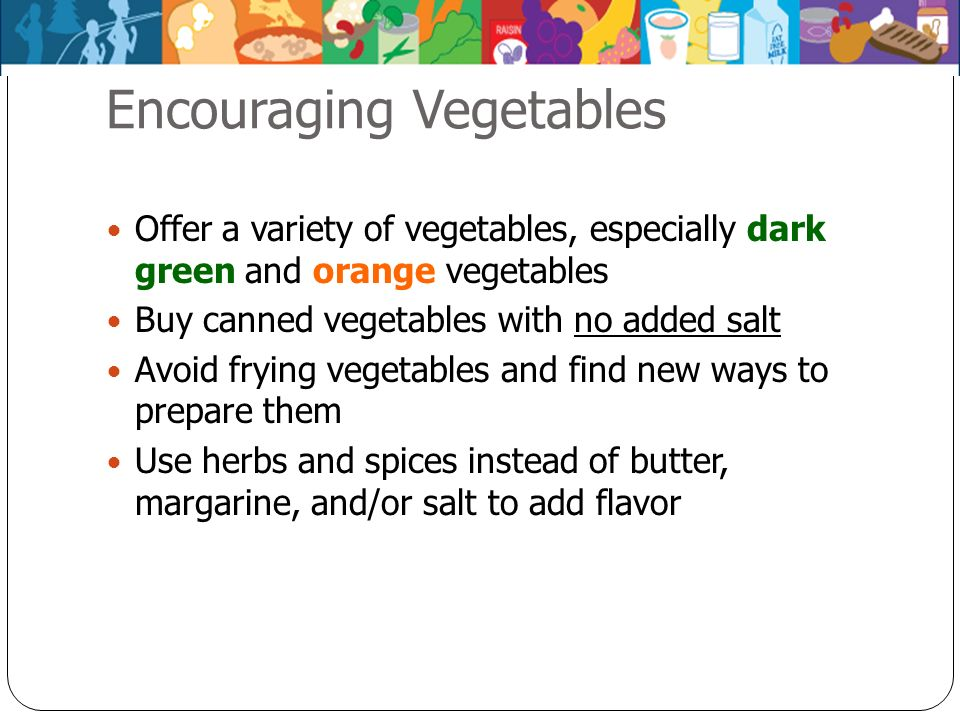 Encouraging Vegetables