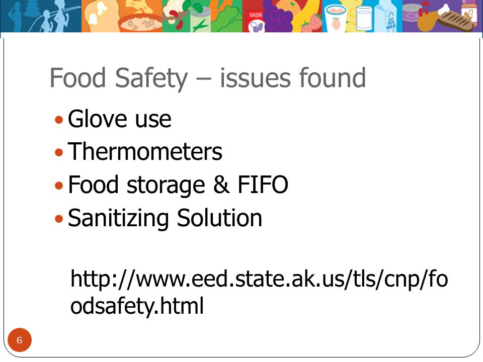 Food Safety – issues found