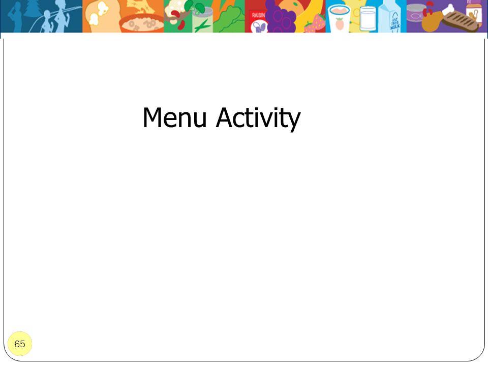 Menu Activity 65