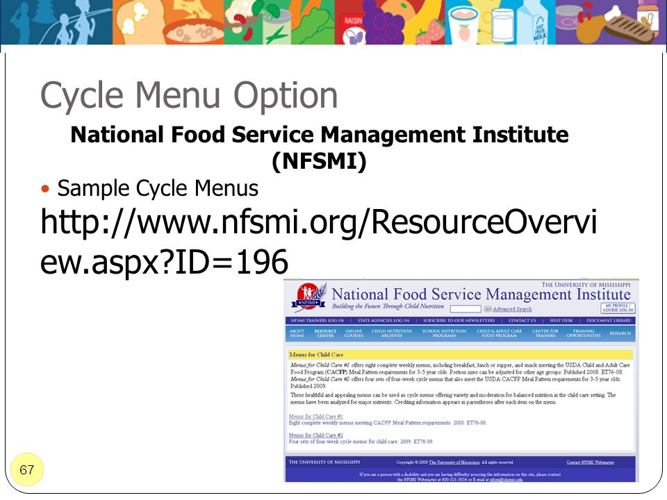 National Food Service Management Institute (NFSMI)