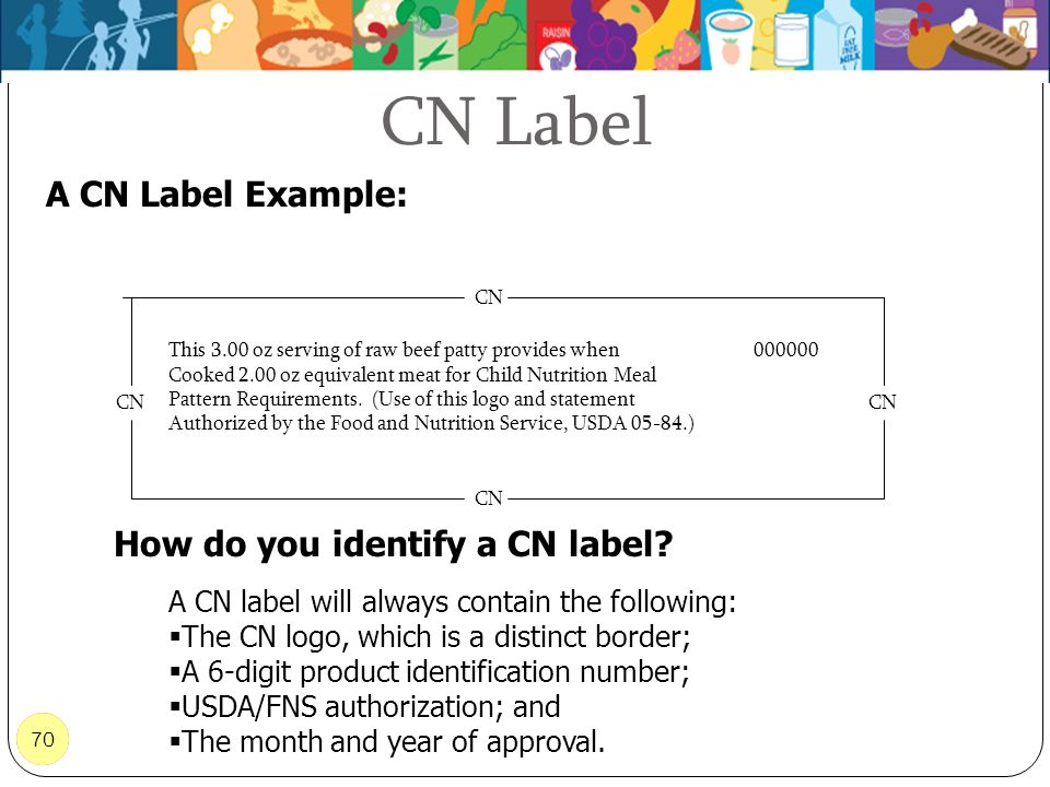How do you identify a CN label