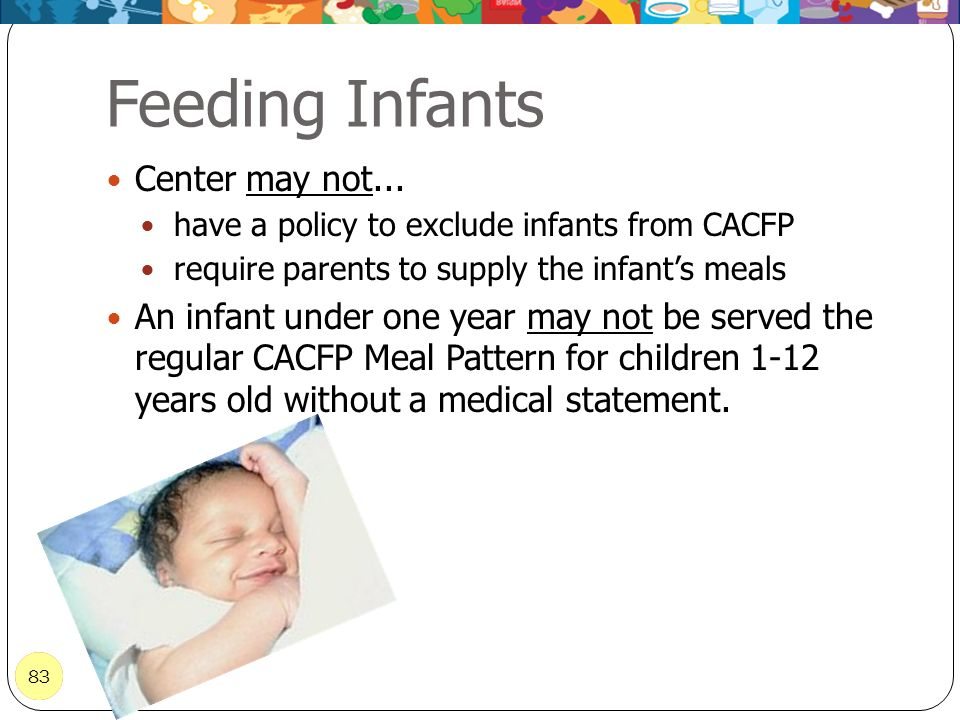 Feeding Infants Center may not...