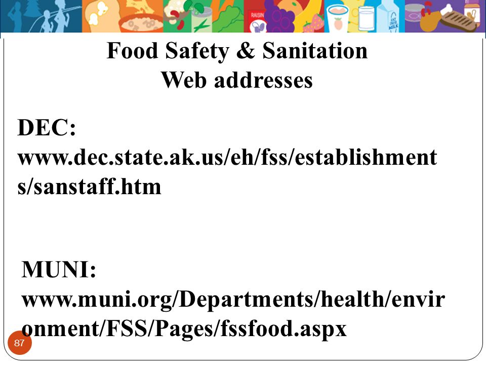 Food Safety & Sanitation