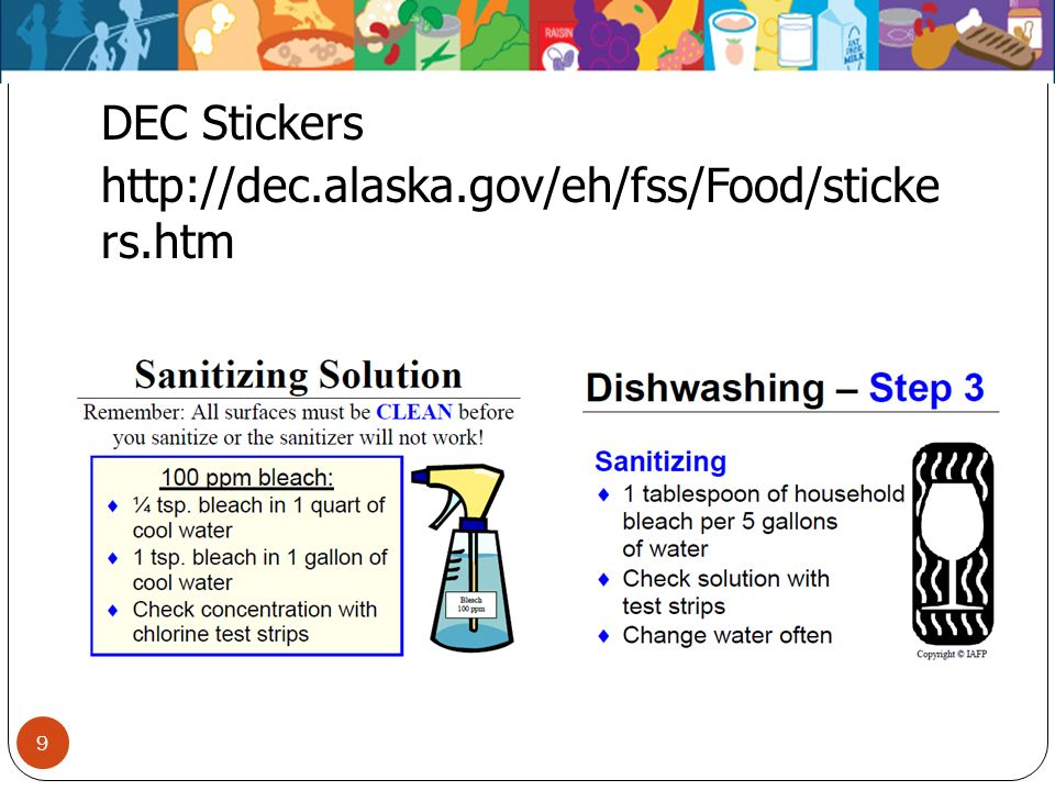 DEC Stickers http://dec.alaska.gov/eh/fss/Food/sticke rs.htm