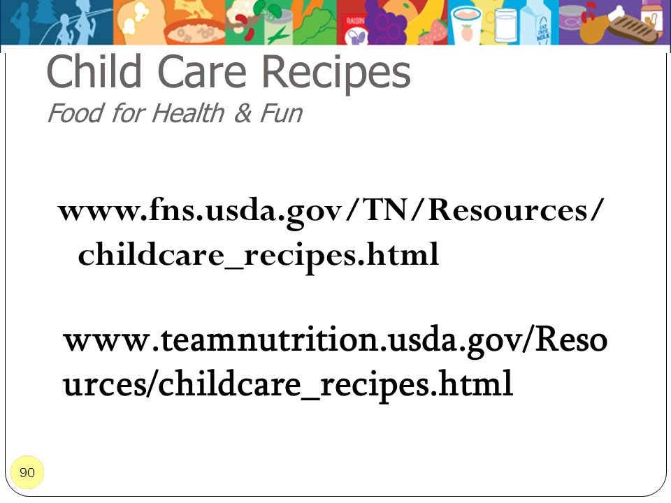 Child Care Recipes Food for Health & Fun