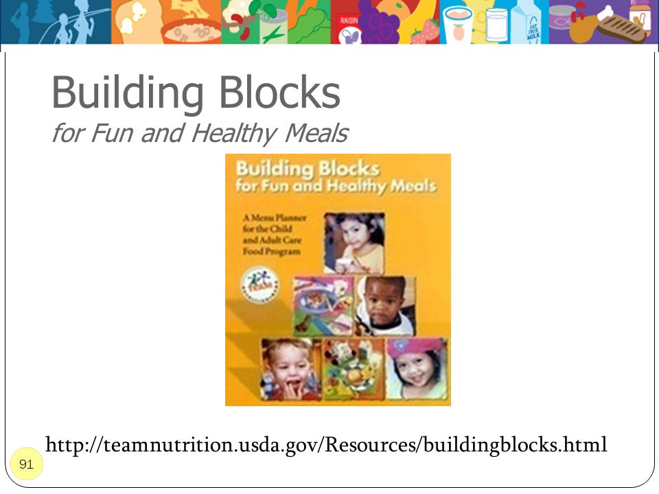 Building Blocks for Fun and Healthy Meals