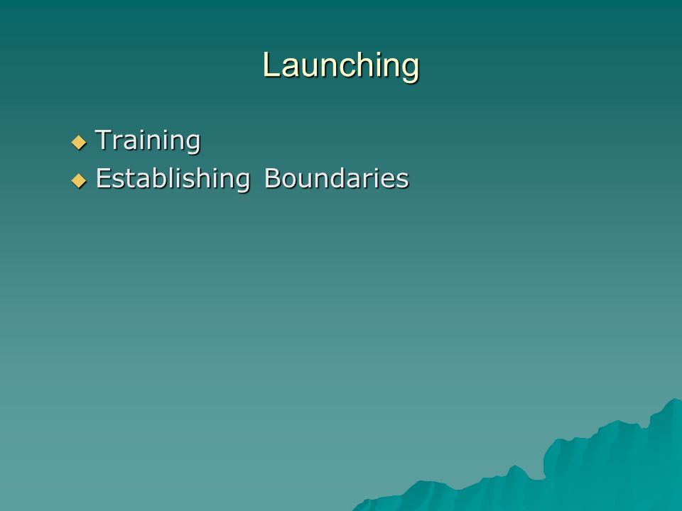 Launching Training Establishing Boundaries