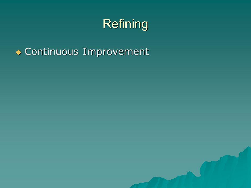 Refining Continuous Improvement