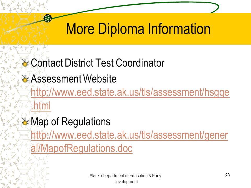 More Diploma Information