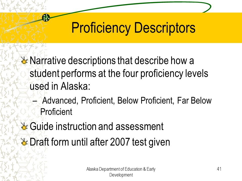 Proficiency Descriptors