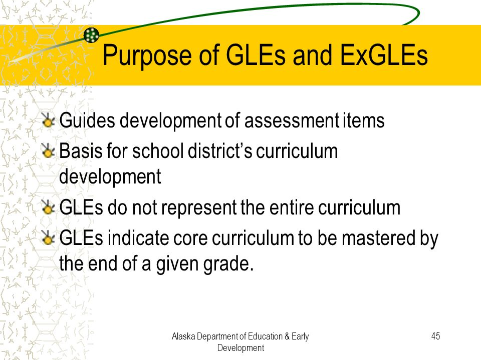 Purpose of GLEs and ExGLEs