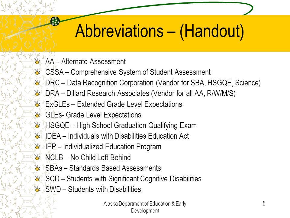 Abbreviations – (Handout)
